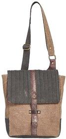 Mona B Canvas Up-Cycled  Canvas Bag brad crossbody size9wx11''Hx3.5''D