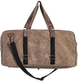 Mona B  Up-Cycled  Canvas Bag   Brad duffel size22wx11''Hx10''D