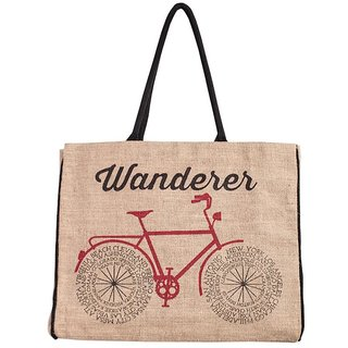 Mona B wanderer Jute Market bag Size18w-15.5H-4.5D