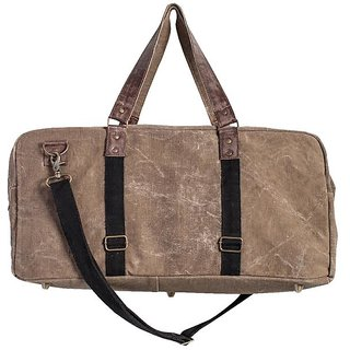 Mona B Up-Cycled Canvas Bag  Brad duffel size22wx11Hx10D