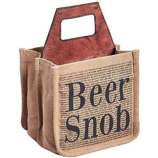 Mona B Up-Cycled Canvas Beer SNOB size 8.5wx8Hx7D