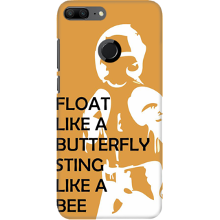 Coberta Case Designer Printed Back Cover For Huawei Honor 9 Lite - Float like a Butterfly Sting Like a Bee Design