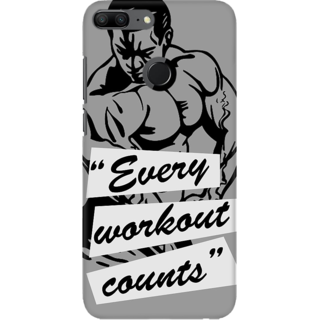 Coberta Case Designer Printed Back Cover For Huawei Honor 9 Lite - Every workout counts Design