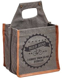 Mona B Canvas Up-Cycled Beer runs  size 8.5wx8''Hx7''D