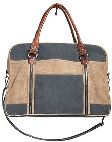 Mona B  Up-Cycled  Canvas Bag   Dash Weekender size19.5wx13'Hx6''D