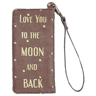 Mona B  Up-Cycled Canvas Moonchild  Card Case  7.5 Wide x 3.5 Tall x 2D
