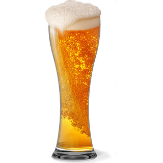 Stallion Barware Unbreakable Bubbles Beer Glass - 440ml (Pack of 6)