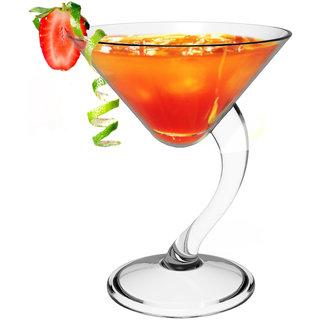 Stallion Barware Unbreakable Dizzy Cocktail Glass - 210ml (Pack of 2)