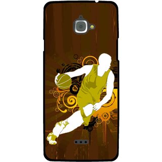 Snooky Printed Chamoins wins Mobile Back Cover For Infocus M350 - Multi