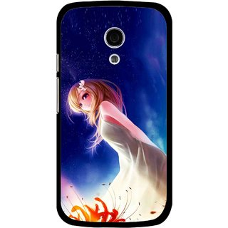 Snooky Printed Angel Girl Mobile Back Cover For Moto G2 - Multi