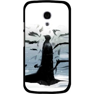 Snooky Printed Black Bats Mobile Back Cover For Moto G2 - Multi