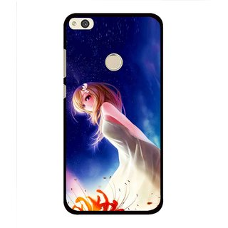 Snooky Printed Angel Girl Mobile Back Cover For Huawei Honor 8 Lite - Multi