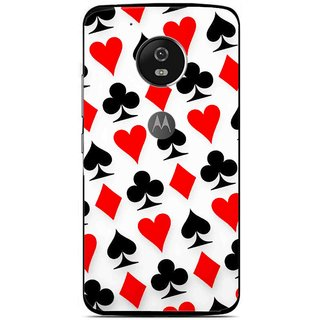 Snooky Printed Playing Cards Mobile Back Cover For Moto G5 - Multi