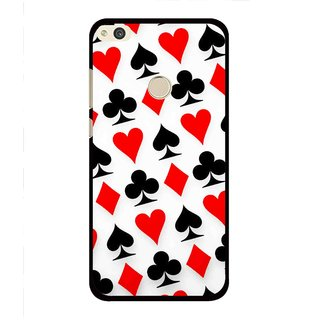 Snooky Printed Playing Cards Mobile Back Cover For Huawei Honor 8 Lite - Multi