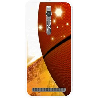 Snooky Printed Basketball Club Mobile Back Cover For Asus Zenfone 2 - Multi