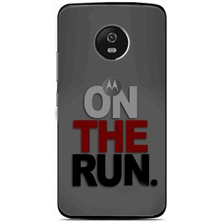 Snooky Printed On The Run Mobile Back Cover For Moto G5 - Multi