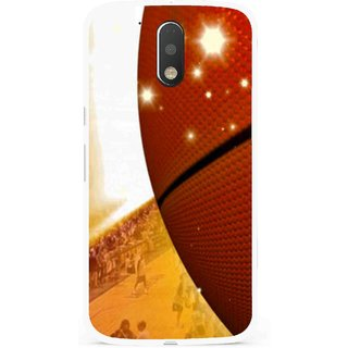 Snooky Printed Basketball Club Mobile Back Cover For Moto G4 Plus - Multi