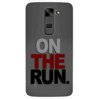 Snooky Printed On The Run Mobile Back Cover For Lg Stylus 2 - Multi
