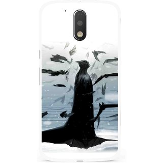 Snooky Printed Black Bats Mobile Back Cover For Moto G4 Plus - Multi