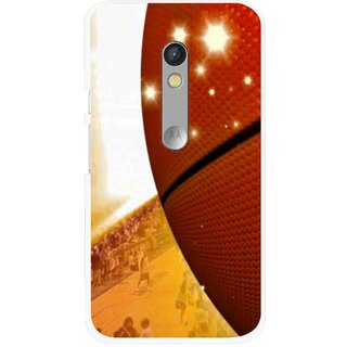 Snooky Printed Basketball Club Mobile Back Cover For Motorola Moto X Play - Multi