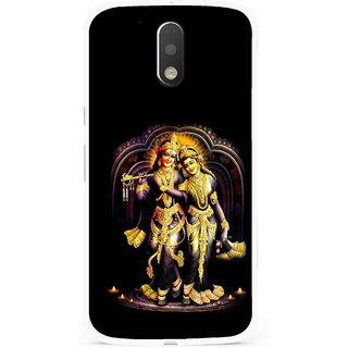 Snooky Printed Radha Krishan Mobile Back Cover For Moto G4 Plus - Multi