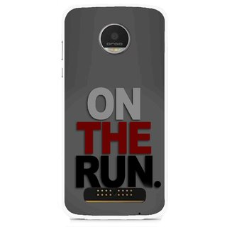 Snooky Printed On The Run Mobile Back Cover For Moto Z - Multi