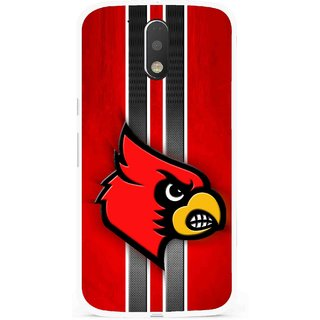 Snooky Printed Red Eagle Mobile Back Cover For Moto G4 Plus - Multi