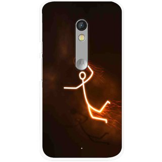Snooky Printed Burning Man Mobile Back Cover For Motorola Moto X Play - Multi