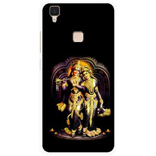 Snooky Printed Radha Krishan Mobile Back Cover For Vivo V3 - Multi