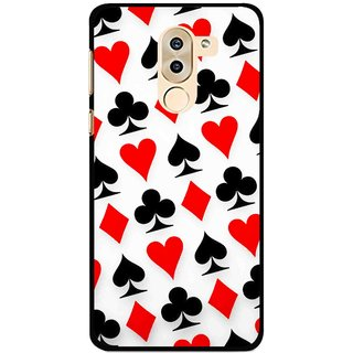 Snooky Printed Playing Cards Mobile Back Cover For Huawei Honor 6X - Multi