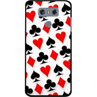 Snooky Printed Playing Cards Mobile Back Cover For LG G6 - Multi