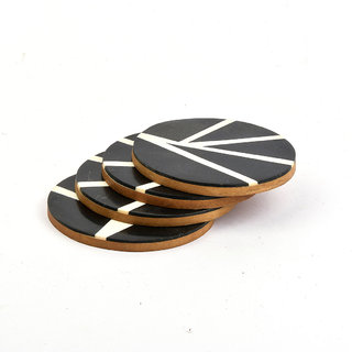 Casa Decor Black Gothic Coaster Set Handmade Resin Composite Set Of 4 Round Table Coasters For  sc 1 st  Shopclues : table coasters for drinks - pezcame.com