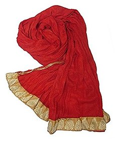 Sislike Cotton mix Red dupatta