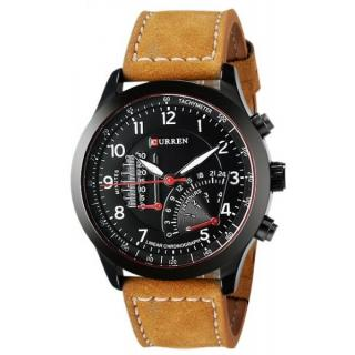 Curren Miter for Men - Sports Leather Band Watch
