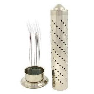 Steel Incense Stick Aggarbatti Stand Case Holder for Puja Home