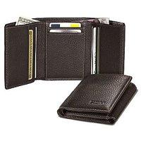 Triple Fold Leather wallet for mens  women