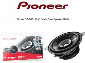 Pioneer TS-G1015R Dual Cone 4-Inch 190 W - Car Front Speaker - With Installation Kit