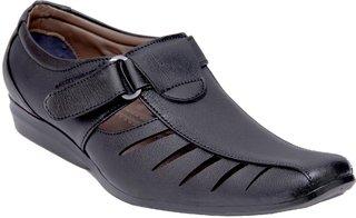 Stylos Men's 307 Black Leather Shoes