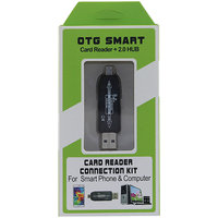 OTG Smart Card Reader + 2.0 USB Hub
