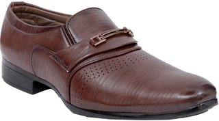 Stylos Men's 5036 Brown Leather Shoes