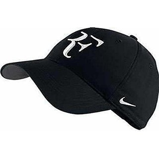 43a5bbf425d71 Black RF Cool Trendy Quality Caps Hats Headgear Sports Tennis Cap for Men  Guys Free Size