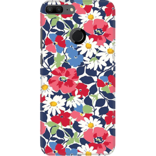 Coberta Case Designer Printed Back Cover For Huawei Honor 9 Lite - Flowes Grunge Pattern Design