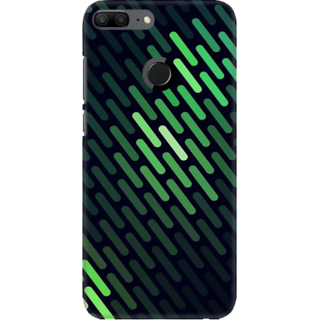 Coberta Case Designer Printed Back Cover For Huawei Honor 9 Lite - Neon Lightening Stripes Design