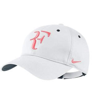 White rf Cool Trendy Quality Caps Hats Headgear Sports Tennis Cap for Men SPORTS CAP