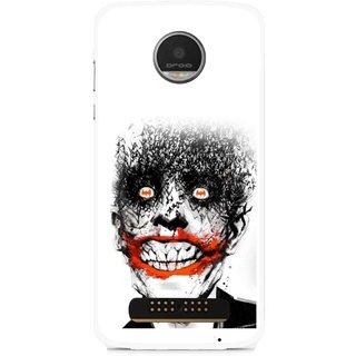 Snooky Printed Joker Mobile Back Cover For Moto Z - Multi