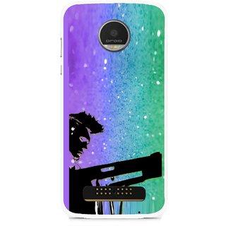 Snooky Printed Sparkling Boy Mobile Back Cover For Moto Z - Multi