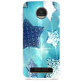 Snooky Printed Sparkling Stars Mobile Back Cover For Moto Z - Multi