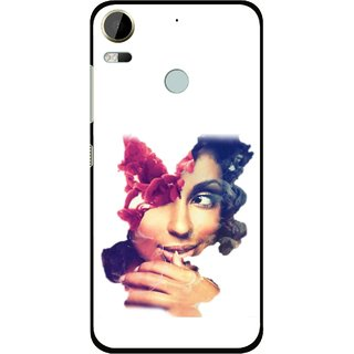 Snooky Printed Vintage Girl Mobile Back Cover For HTC Desire 10 Pro - Multi