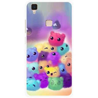 Snooky Printed Cutipies Mobile Back Cover For Vivo V3 - Multi