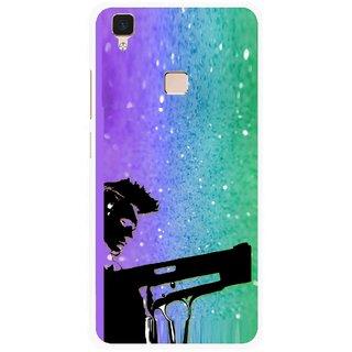 Snooky Printed Sparkling Boy Mobile Back Cover For Vivo V3 - Multi